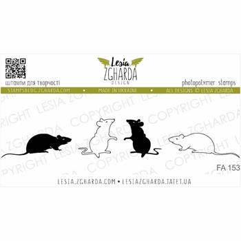 Lesia Zgharda MOUSES Clear Stamps fa153