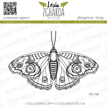 Lesia Zgharda BUTTERFLY Clear Stamp fa149