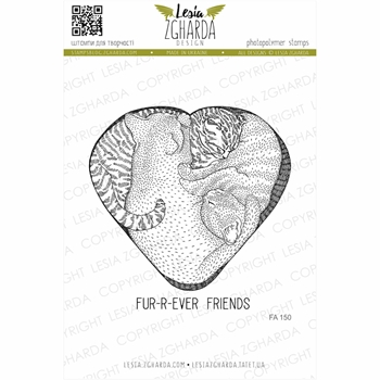 Lesia Zgharda CAT'S HEART Clear Stamps fa150