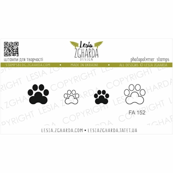 Lesia Zgharda CAT PAW Clear Stamps fa152
