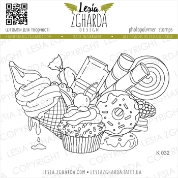 Lesia Zgharda SWEETS Clear Stamp k032