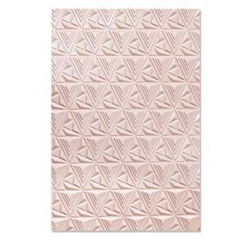 Sizzix Textured Impressions GEOMETRIC LATTICE 3D Embossing Folder 664425