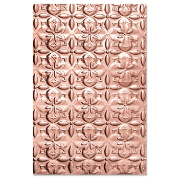 Sizzix Textured Impressions ADORNED TILE 3D Embossing Folder 664426