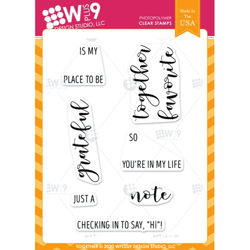 Wplus9 TOGETHER Clear Stamps clwp9tgt Preview Image