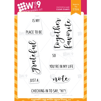 Wplus9 TOGETHER Clear Stamps clwp9tgt
