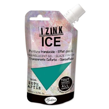 Aladine IZINK ICE GLACIER GREEN Glaze Finish 80378