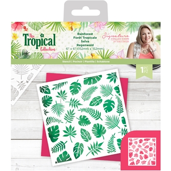 Crafter's Companion RAINFOREST Stencil strstenrai