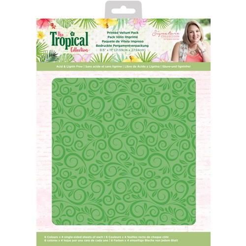 Crafter's Companion TROPICAL Printed Vellum Pack strvellumus Preview Image