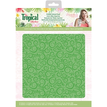 Crafter's Companion TROPICAL Printed Vellum Pack strvellumus