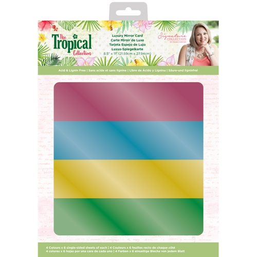 Crafter's Companion TROPICAL Luxury Mirror Card strmirrorus Preview Image