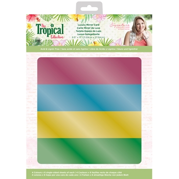 Crafter's Companion TROPICAL Luxury Mirror Card strmirrorus