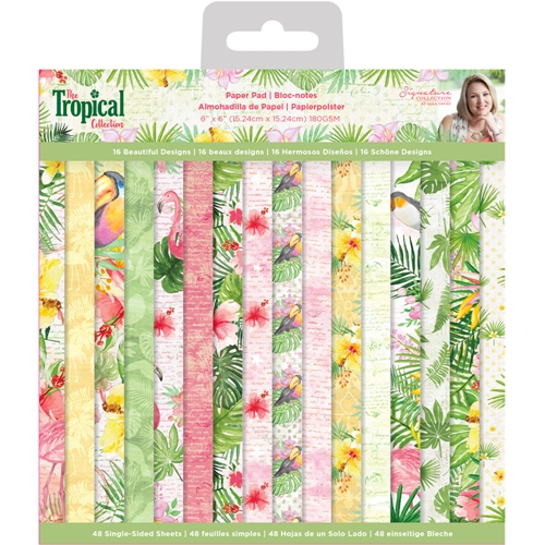 Crafter's Companion TROPICAL 6 x 6 Paper Pad strpad6 Preview Image