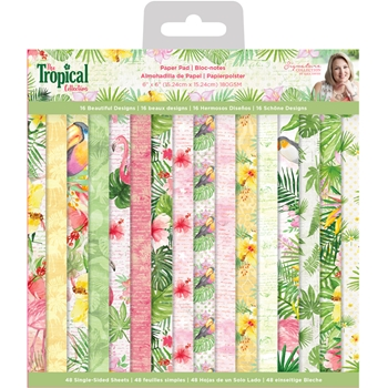 Crafter's Companion TROPICAL 6 x 6 Paper Pad strpad6