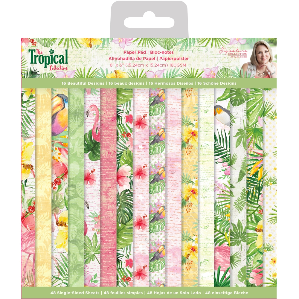 Crafter's Companion TROPICAL 6 x 6 Paper Pad strpad6 zoom image
