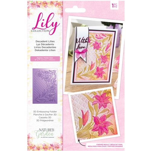 Crafter's Companion DECADENT LILIES 3D Embossing Folder nglilyef53ddlil Preview Image