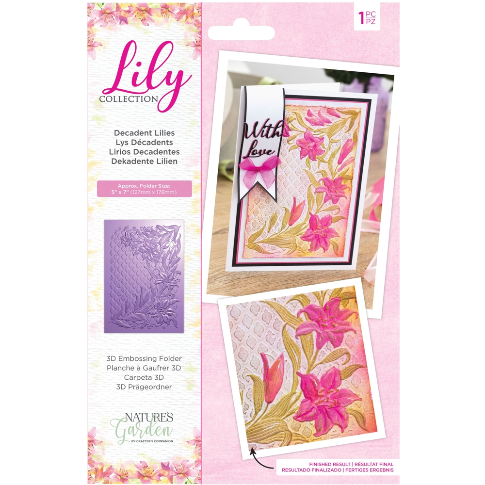 Crafter's Companion DECADENT LILIES 3D Embossing Folder nglilyef53ddlil zoom image