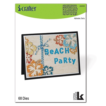 i-Crafter ALPHABET CARLY Dies 222009