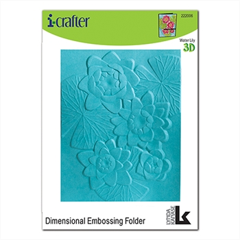 i-Crafter WATER LILY 3D Embossing Folder 222006