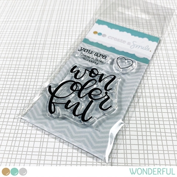 Create A Smile WONDERFUL Clear Stamps clcs136
