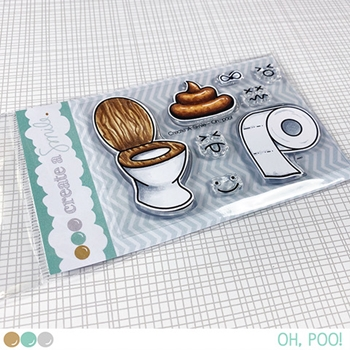 Create A Smile OH POO Clear Stamps clcs137