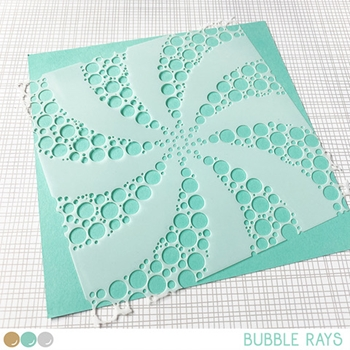 Create A Smile BUBBLE RAYS 6x6 Stencil scs42