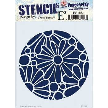 Paper Artsy ECLECTICA3 TRACY SCOTT Stencil ps188