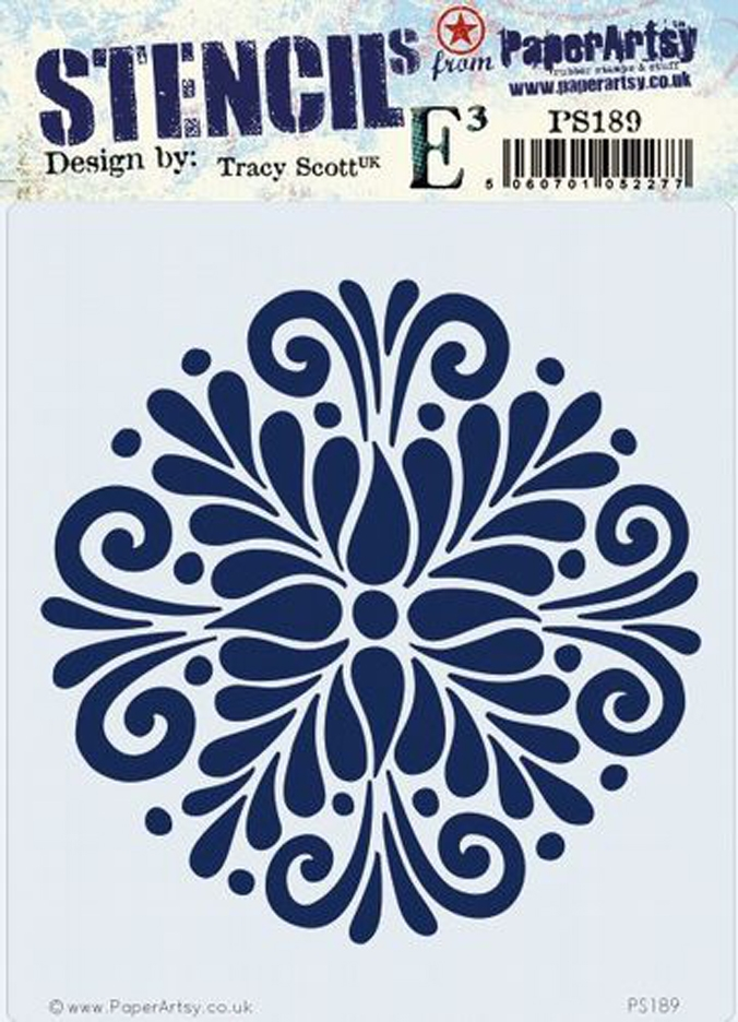 Paper Artsy ECLECTICA3 TRACY SCOTT Stencil ps189 zoom image