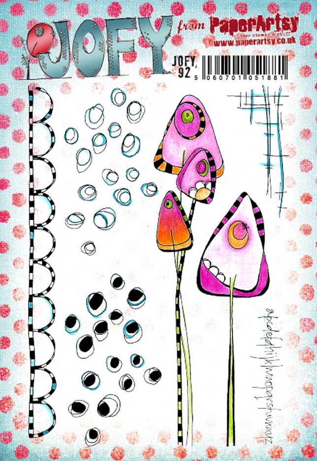 Paper Artsy JOFY 92 Cling Stamps jofy92 zoom image