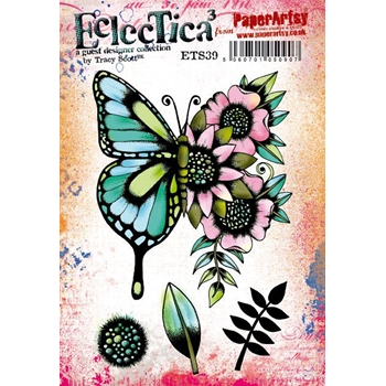 Paper Artsy ECLECTICA3 TRACY SCOTT 39 Cling Stamps ets39
