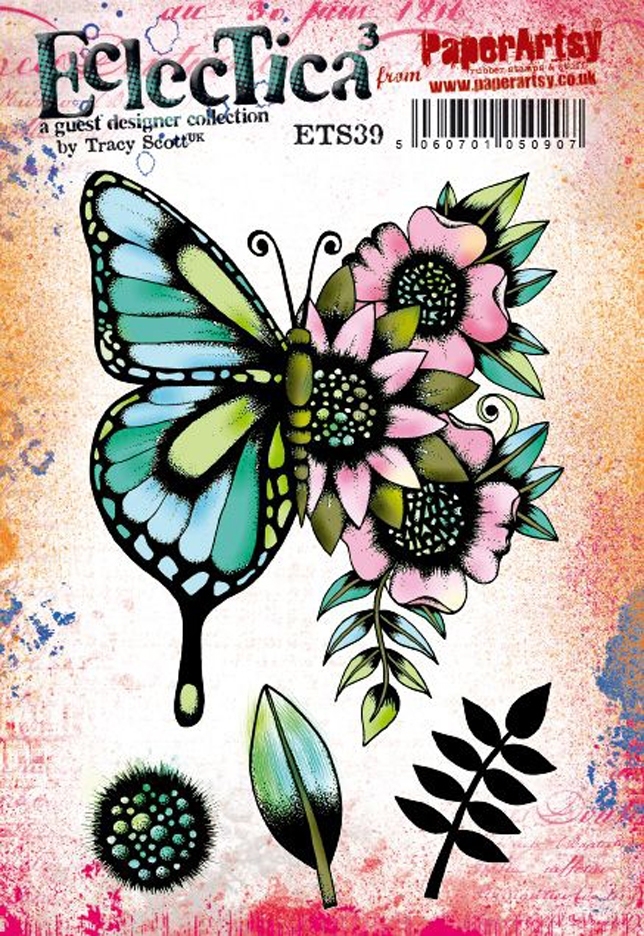 Paper Artsy ECLECTICA3 TRACY SCOTT 39 Cling Stamps ets39 zoom image