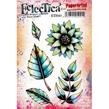 Paper Artsy ECLECTICA3 TRACY SCOTT 40 Cling Stamps ets40