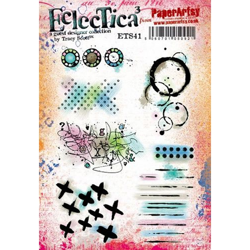 Paper Artsy ECLECTICA3 TRACY SCOTT 41 Cling Stamps ets41 Preview Image