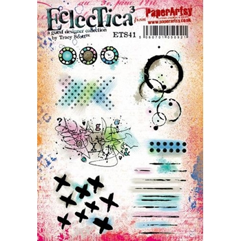 Paper Artsy ECLECTICA3 TRACY SCOTT 41 Cling Stamps ets41