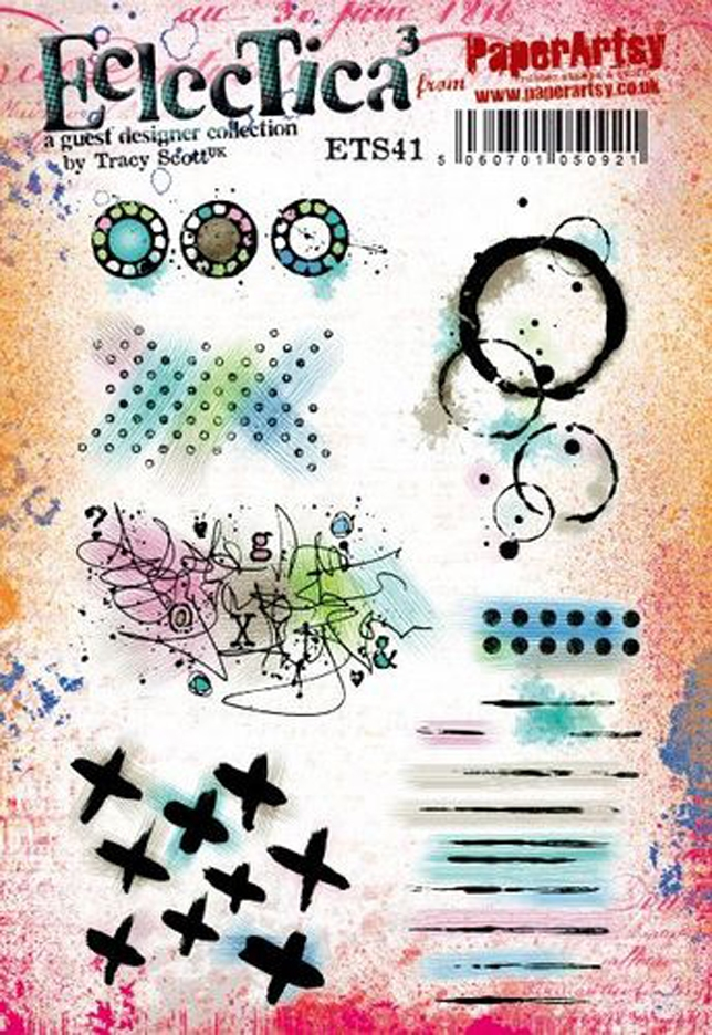 Paper Artsy ECLECTICA3 TRACY SCOTT 41 Cling Stamps ets41 zoom image