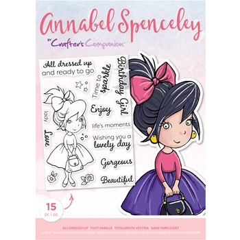Crafter's Companion ALL DRESSED UP Clear Stamp Set asstpalldu