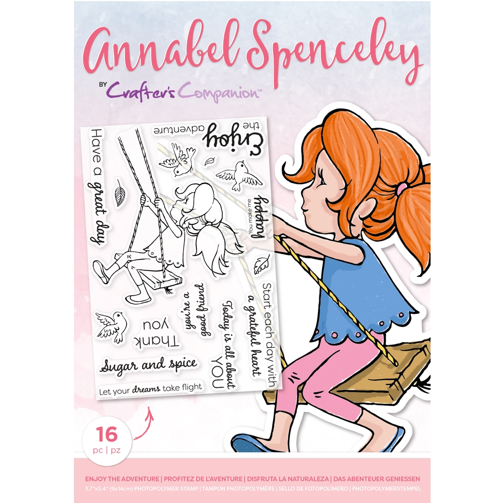 Crafter's Companion ENJOY THE ADVENTURE Clear Stamp Set asstpenjota zoom image