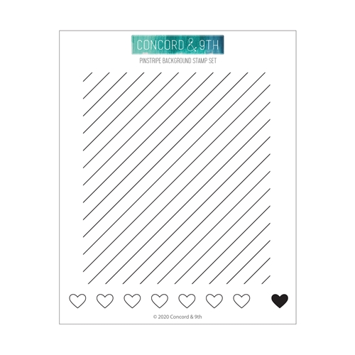 Concord & 9th PINSTRIPE BACKGROUND Clear Stamp Set 10796 Preview Image