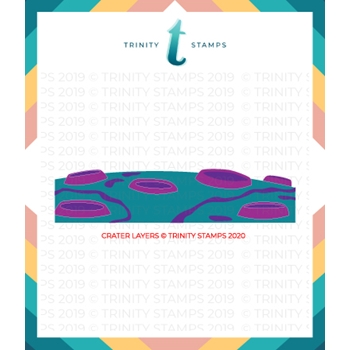 Trinity Stamps CRATER LAYERS 6 x 6 Stencil tss012