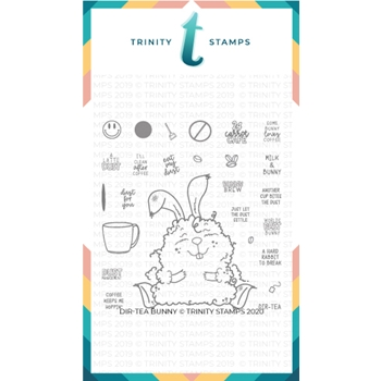 Trinity Stamps DIRTEA BUNNY Clear Stamp Set tps037