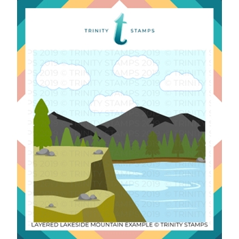 Trinity Stamps LAYERED LAKESIDE MOUNTAIN 6 x 6 Stencil Set of 3 tss017