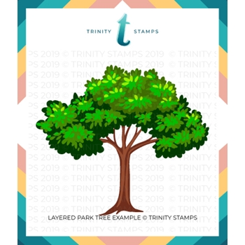 Trinity Stamps LAYERED PARK TREE 6 x 6 Stencil Set of 2 tss010