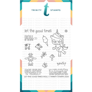 Trinity Stamps LET THE GOOD TIMES ROLL Clear Stamp Set tps038
