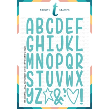 Trinity Stamps MARSHMALLOW ALPHABET Die Set tmd018