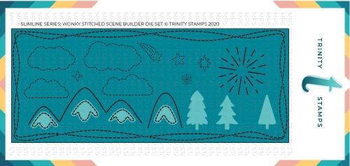 Trinity Stamps SLIMLINE SERIES WONKY STITCHED WILDERNESS Die Set tmd021 Preview Image