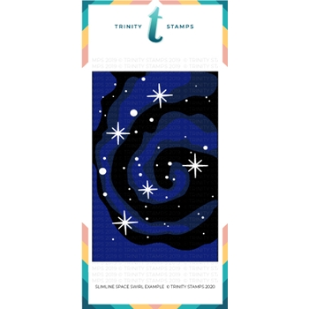 Trinity Stamps SLIMLINE SPACE SWIRL 6 x 9 Stencil Set of 3 tss014