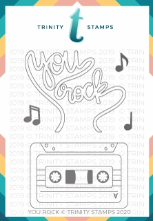 Trinity Stamps YOU ROCK Clear Stamp Set tps040