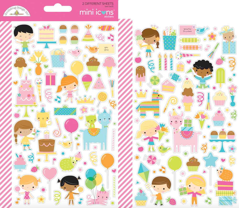 Doodlebug HEY CUPCAKE Mini Icons Cardstock Stickers 6644 Preview Image