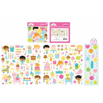 Doodlebug HEY CUPCAKE Odds and Ends Die Cut Shapes 6656