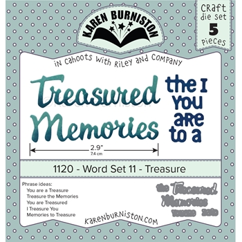 Karen Burniston WORD SET 11 TREASURE Dies 1120