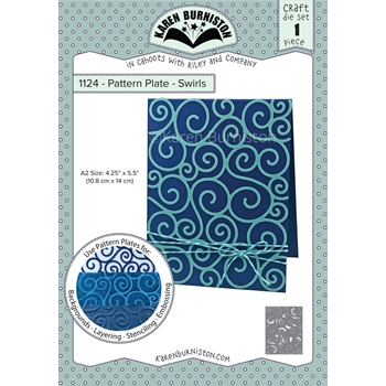 Karen Burniston PATTERN PLATE SWIRLS Die 1124